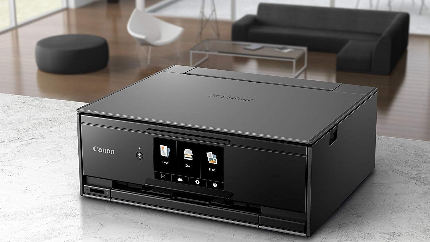 Canon TS9120 photo printer on counter