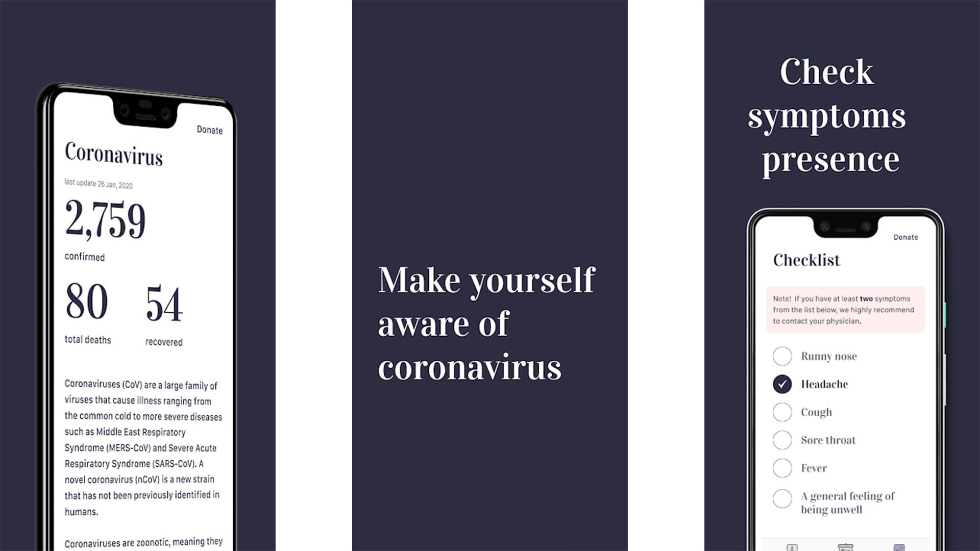 Coronavirus screenshot