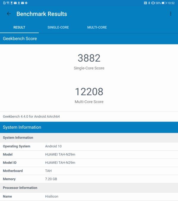 Huawei Mate Xs review Geekbench benchmark