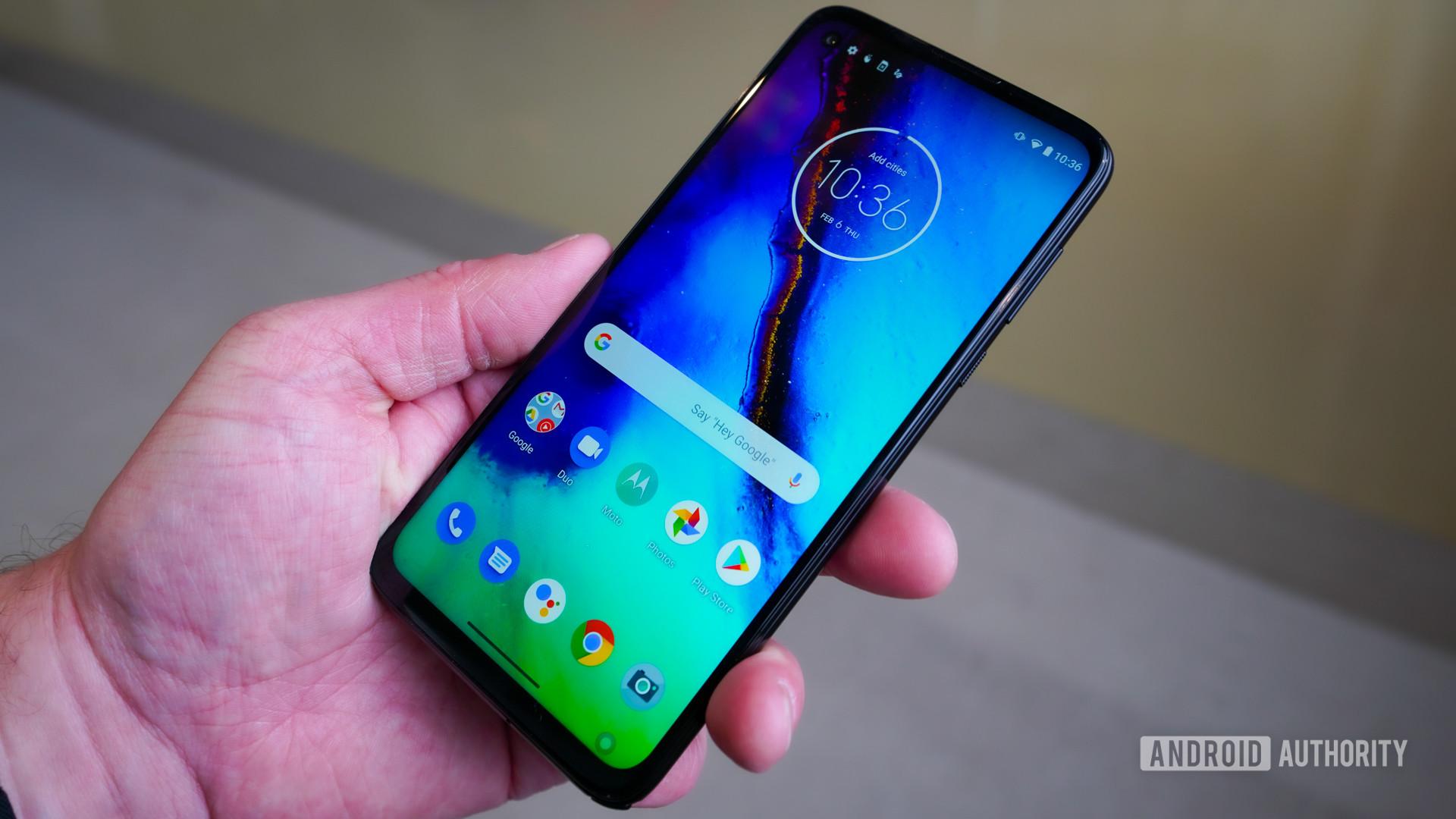 Motorola Moto G Stylus in the hand
