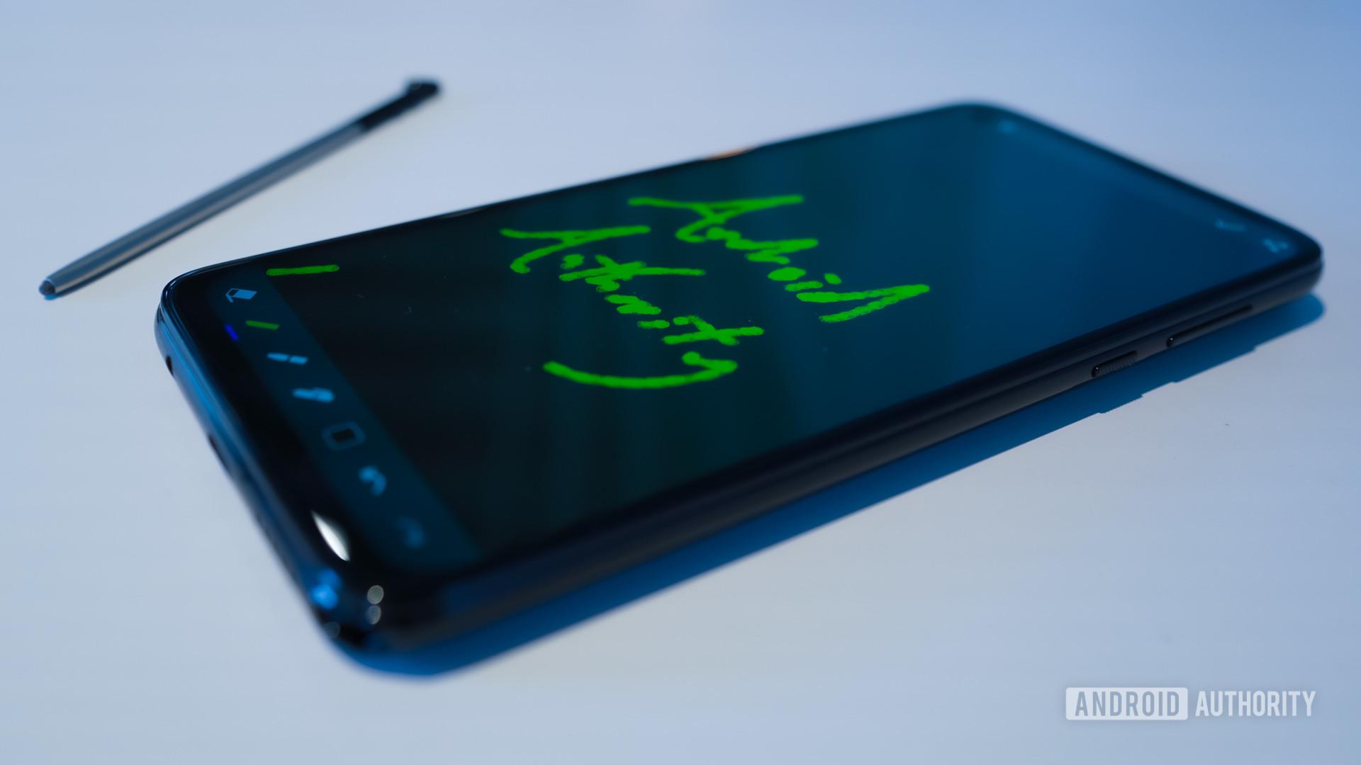 Motorola Moto G Stylus with stylus out