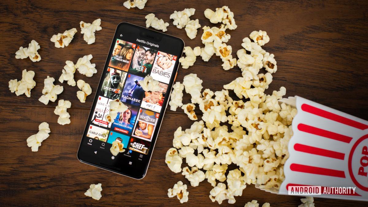 Netflix Originals next to popcorn stock photo 4