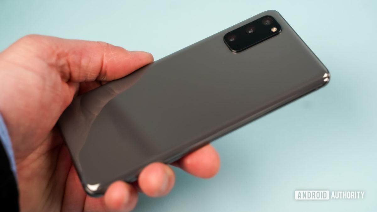 Samsung Galaxy S20 Plus in gray