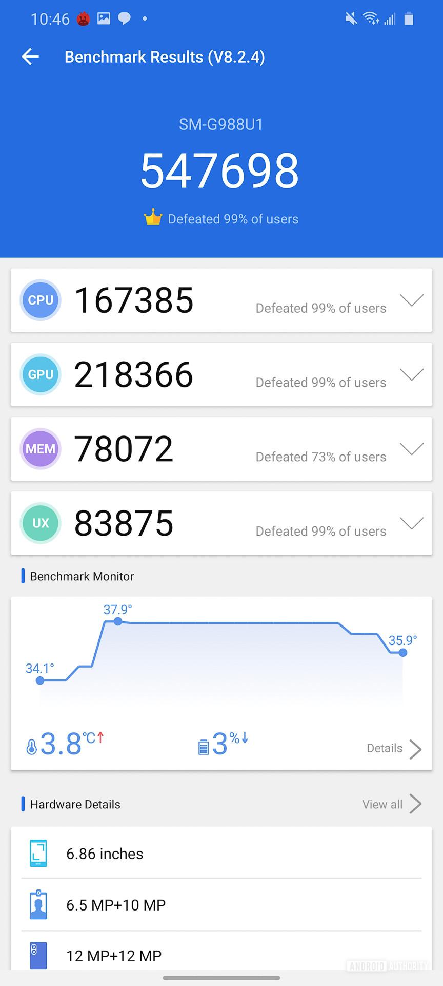 Samsung Galaxy S20 Ultra AnTuTu