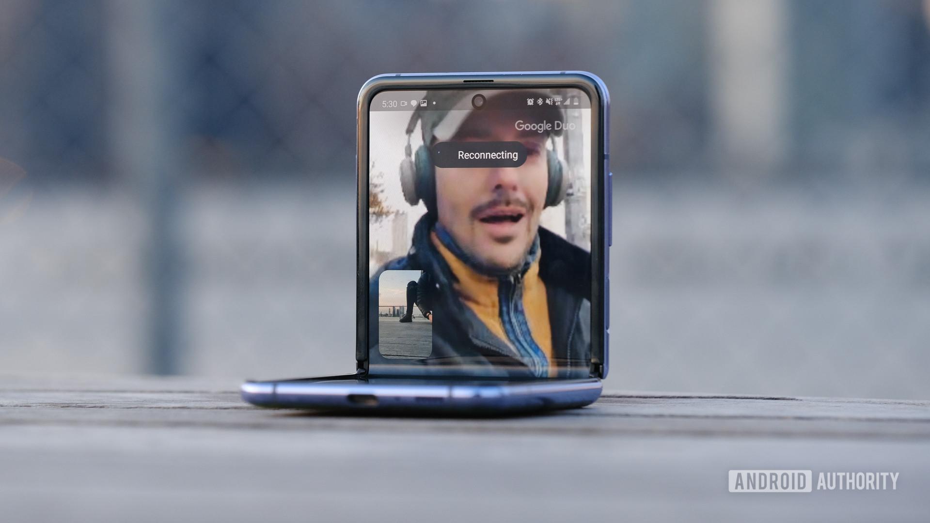 Samsung Galaxy Z Flip Duo call top half
