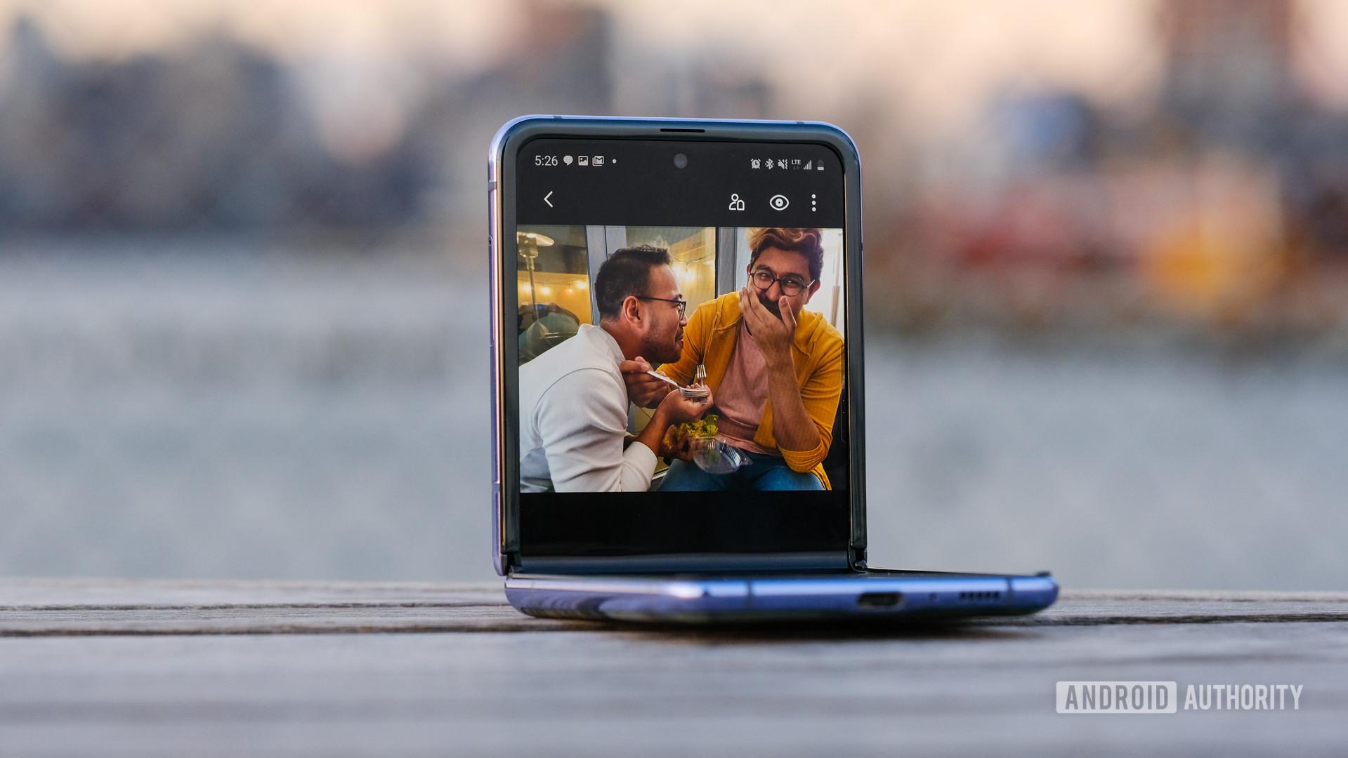 Samsung Galaxy Z Flip half folded gallery