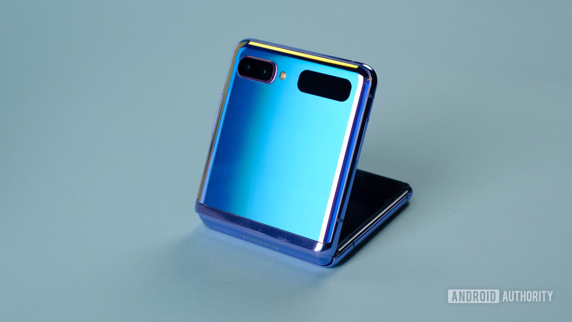 Samsung Galaxy Z Flip side angle open 2