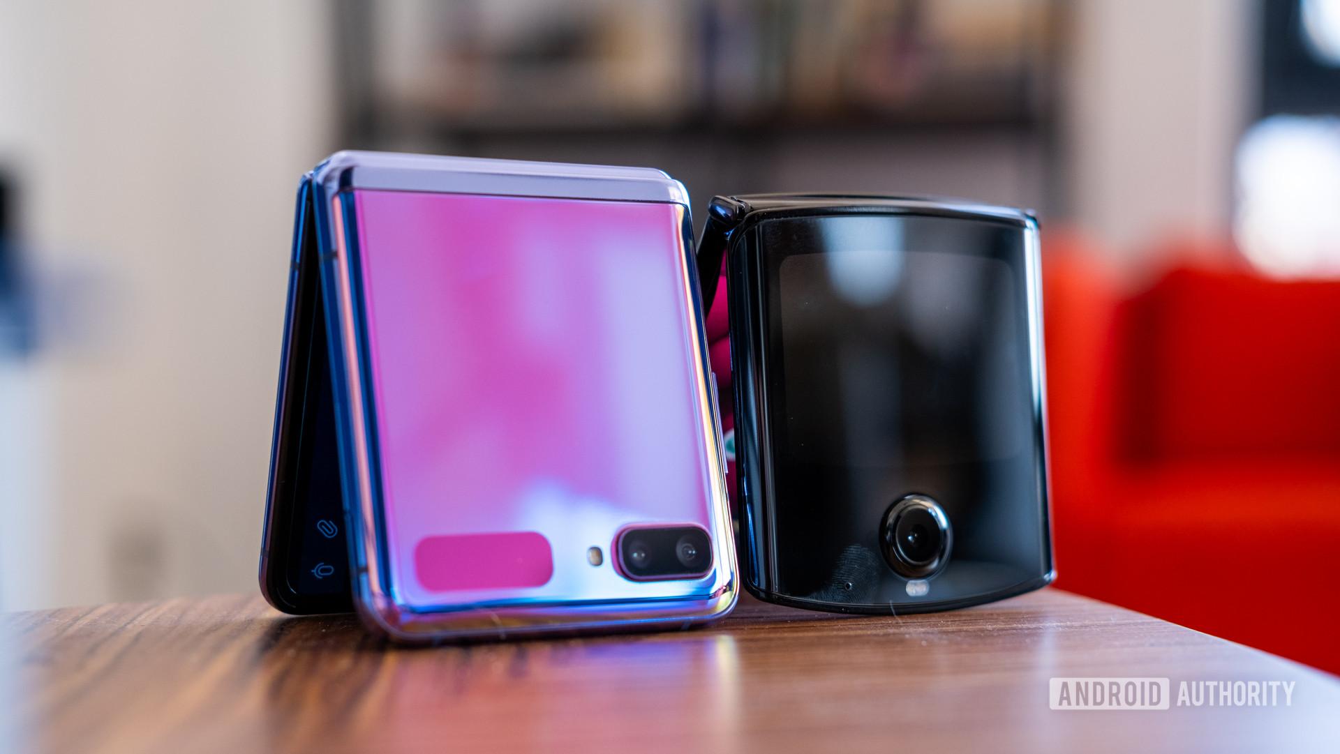Samsung Galaxy Z Flip vs Motorola Razr half closed 1