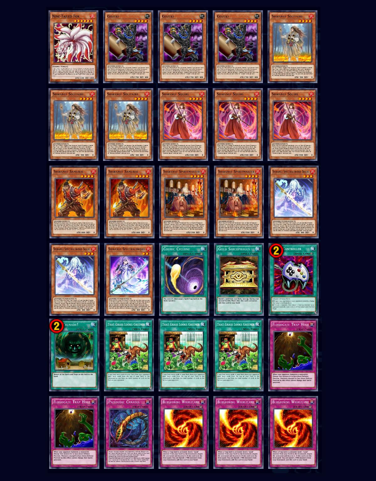 Shiranui deck recipe Yu Gi Oh Duel Links 1