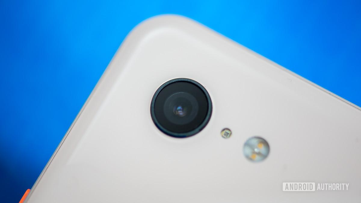Smartphone camera module close up stock photo 2
