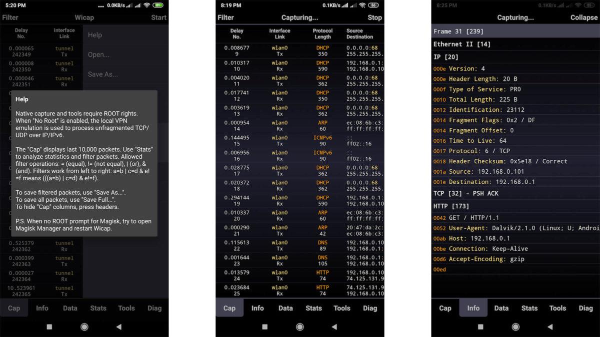 Sniffer Wicap 2 Pro screenshot