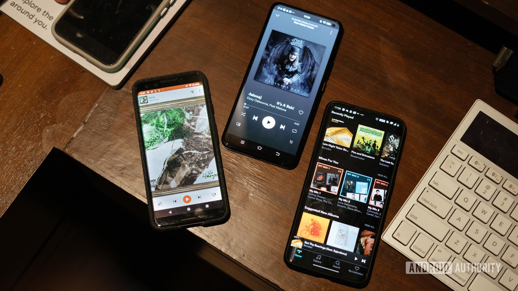 Spotify vs Tidal vs Google Play Music