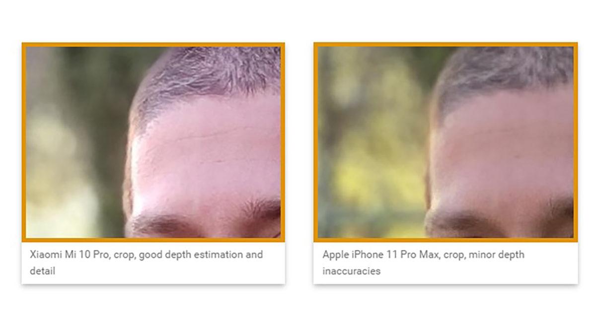 Xiaomi Mi 10 Pro camera compariosn with iPhone 11 Pro Max crop