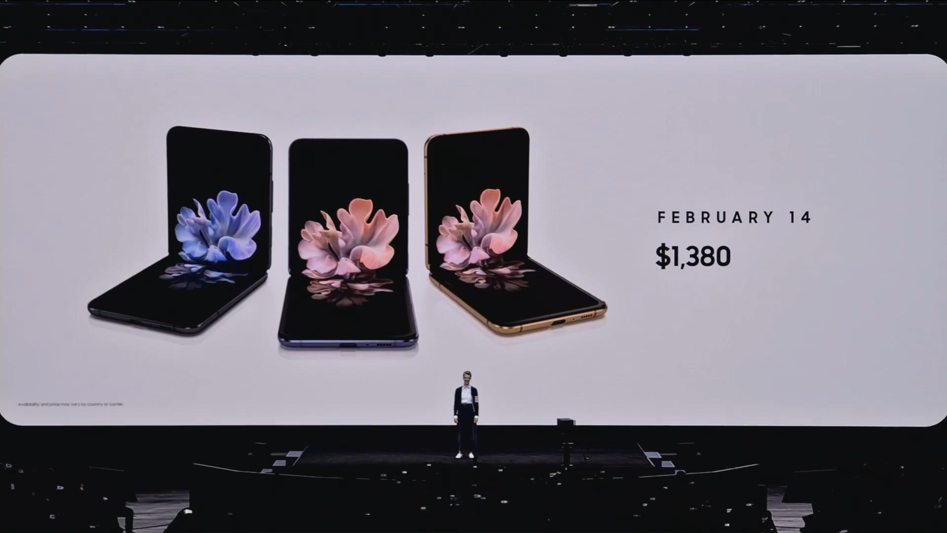 Z Flip availabilty price Samsung Unpacked 2020