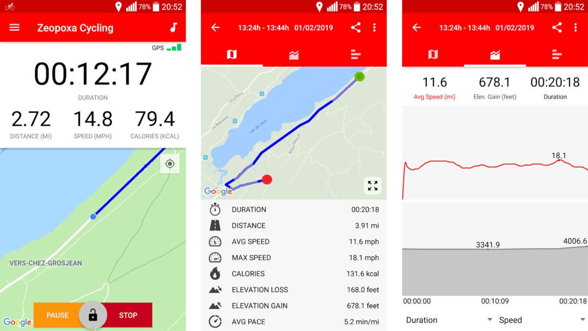 Zeopoxa Cycling screenshot