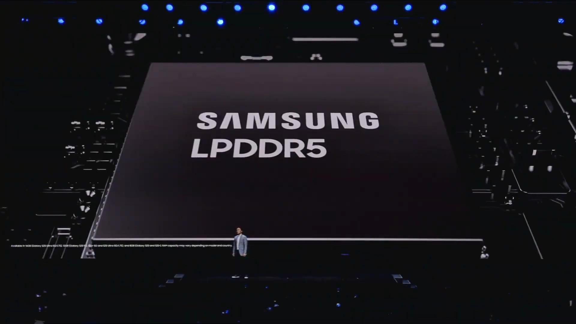 galaxy S20 LPDDR5 Samsung Unpacked 2020