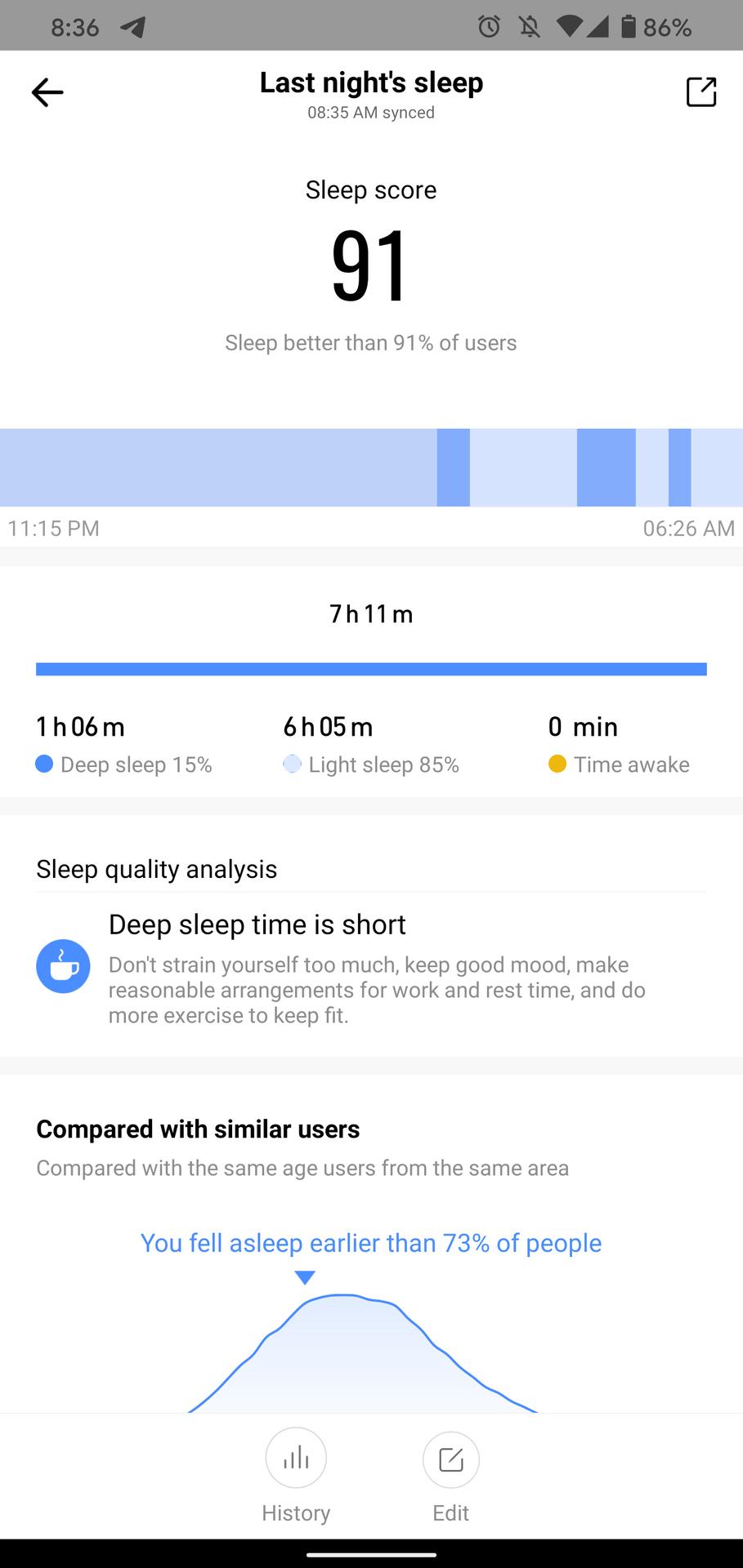 huami amazfit t rex review sleep analysis 1
