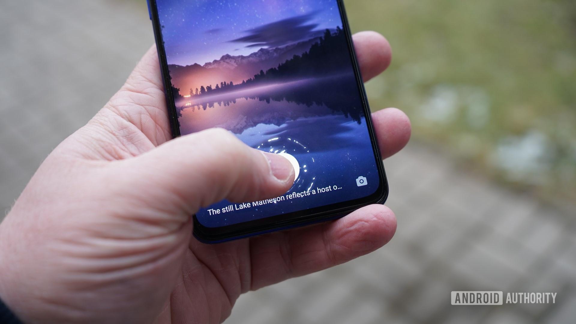 oppo reno3 pro touching the fingerprint reader