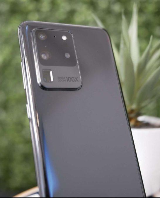 The apparent Samsung Galaxy S20 Ultra.
