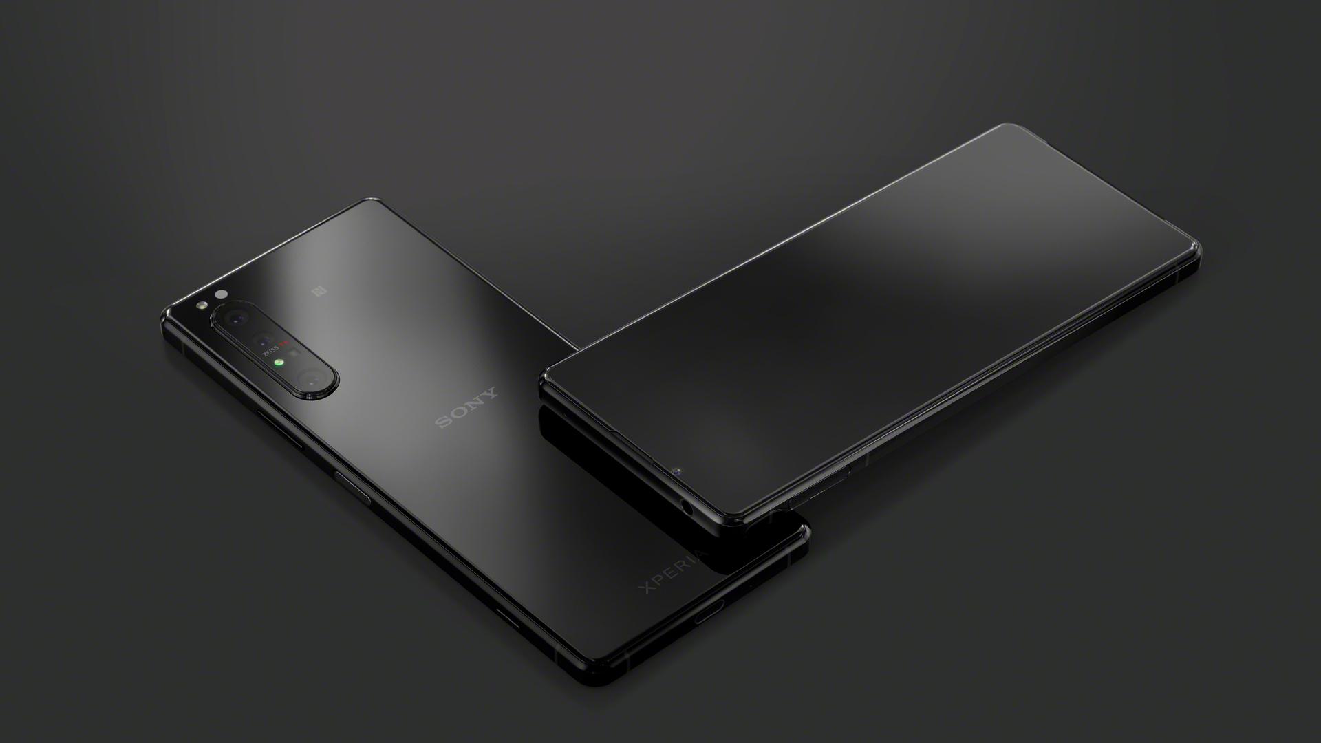 sony xperia 1 ii black back front