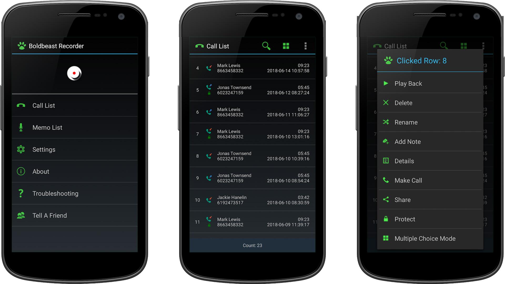 Boldbeast Call Recorder screenshot