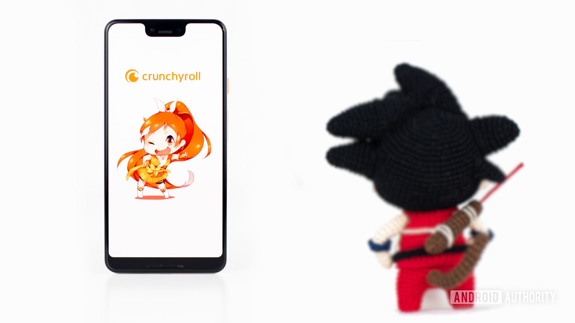 Crunchy Roll stock photo with Goku