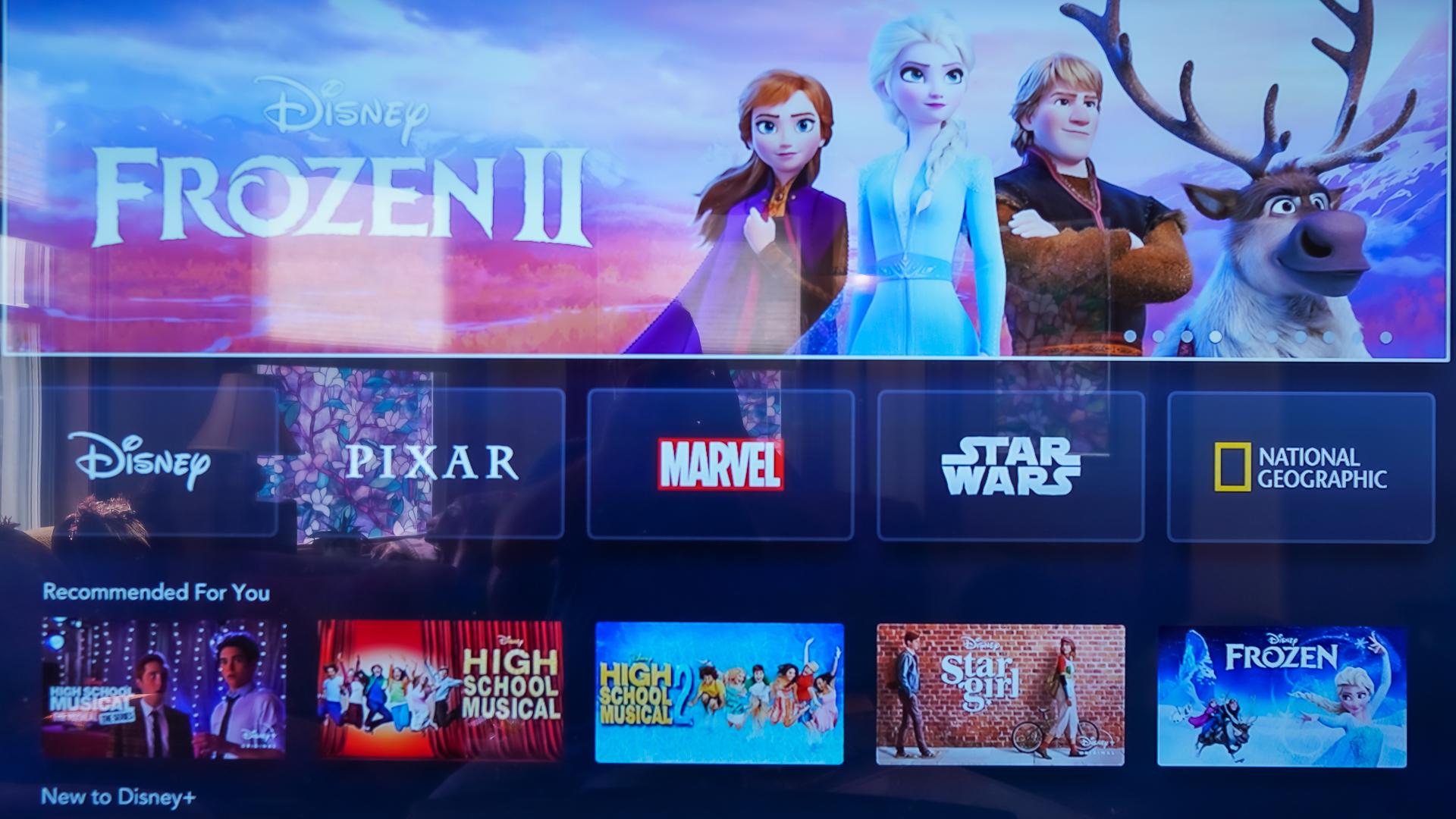 Disney Plus on Apple TV home screen