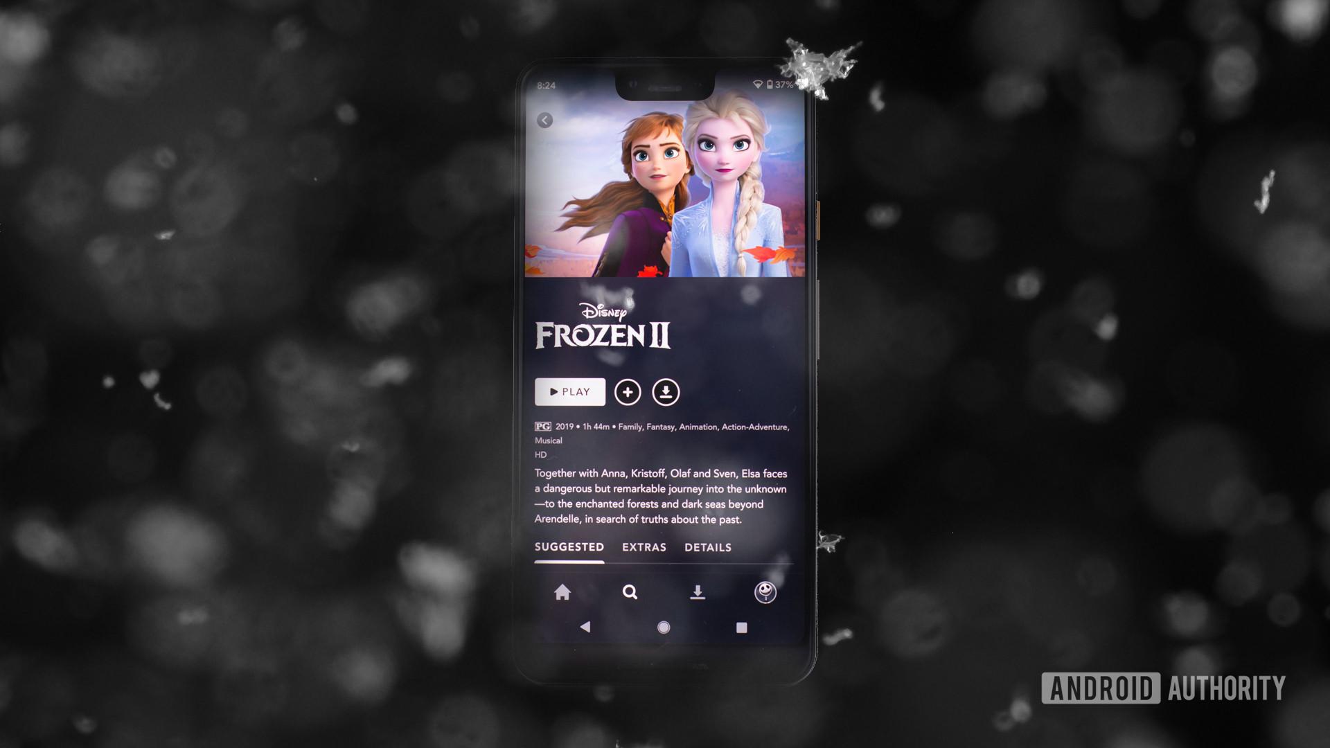 Frozen 2 on Disney Plus app 1