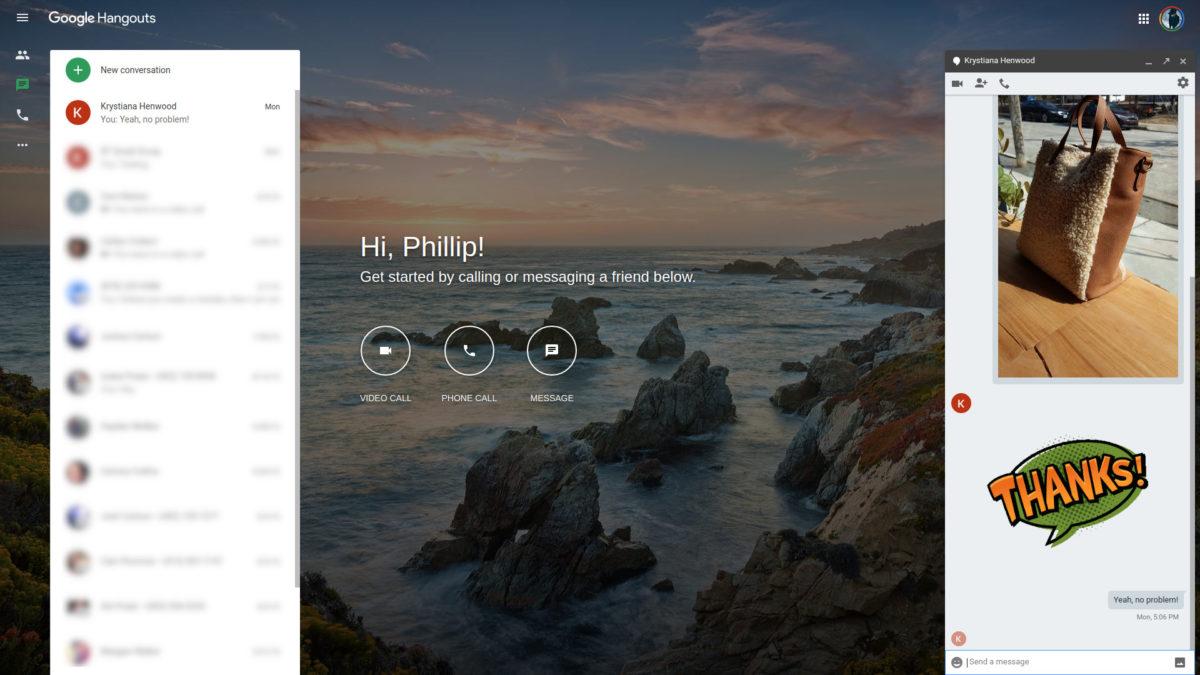 Google Hangouts online