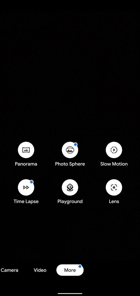 Google Pixel 4 XL shooting modes