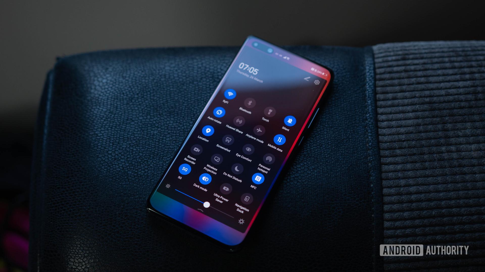 Huawei P40 Pro Quick settings toggle