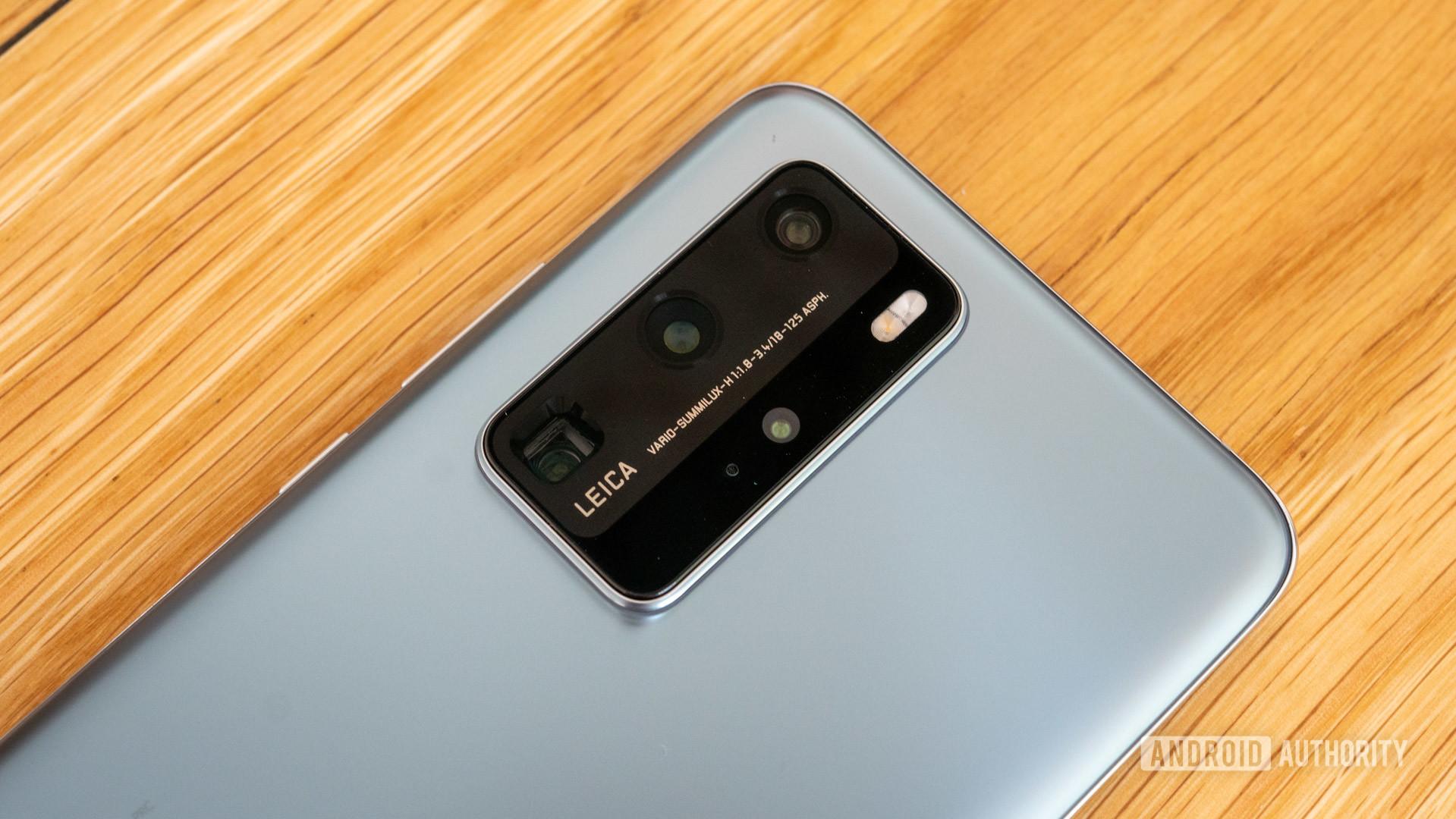 Huawei P40 Pro camera module closeup 2