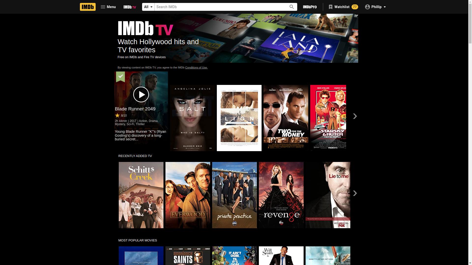 IMDb TV free movies online