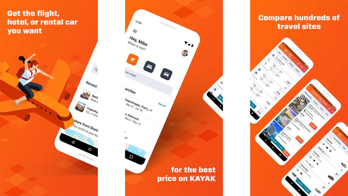 Kayak screenshot 2020
