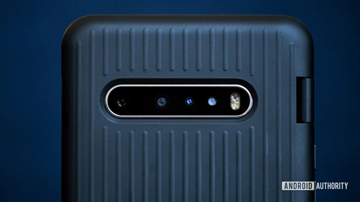 LG V60 dual screen camera macro photograph