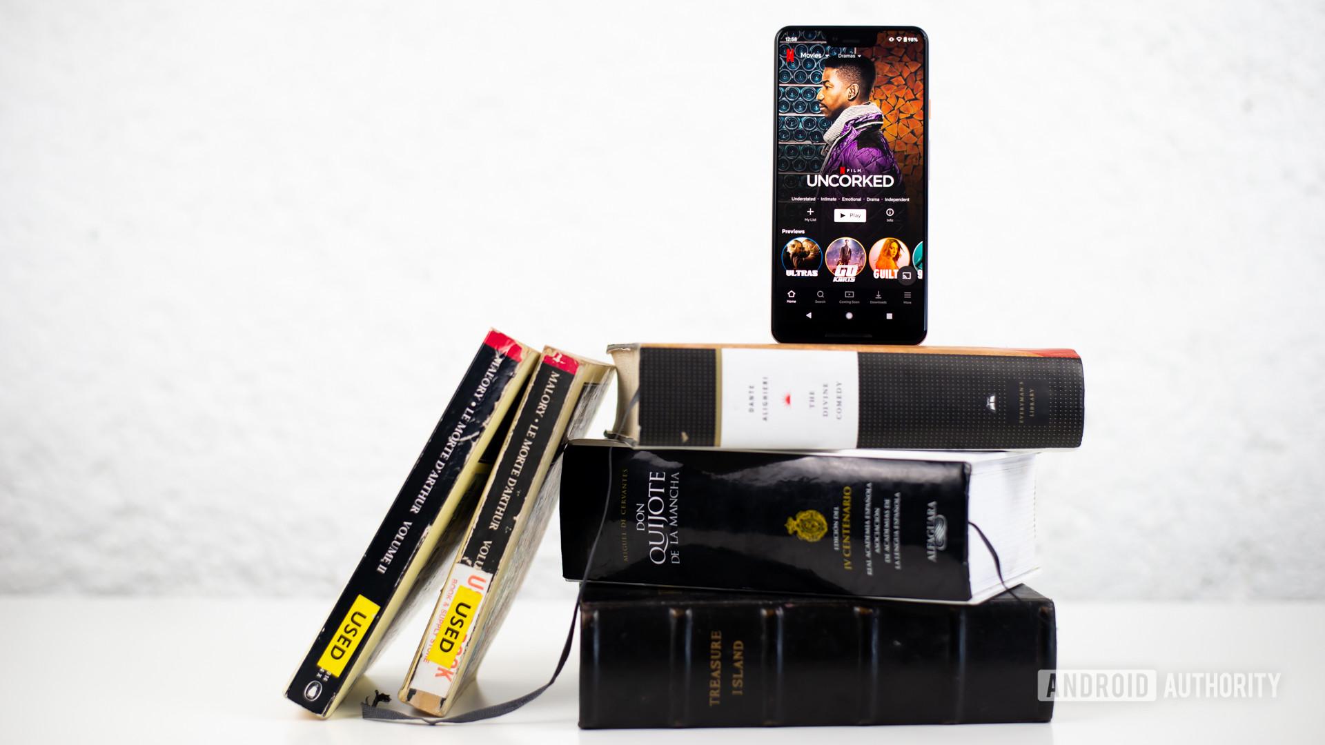Netflix dramas on smartphone stock photo 3