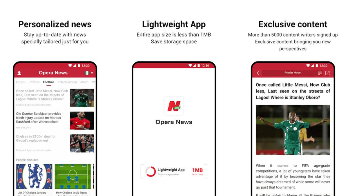 Opera News Lite screenshot