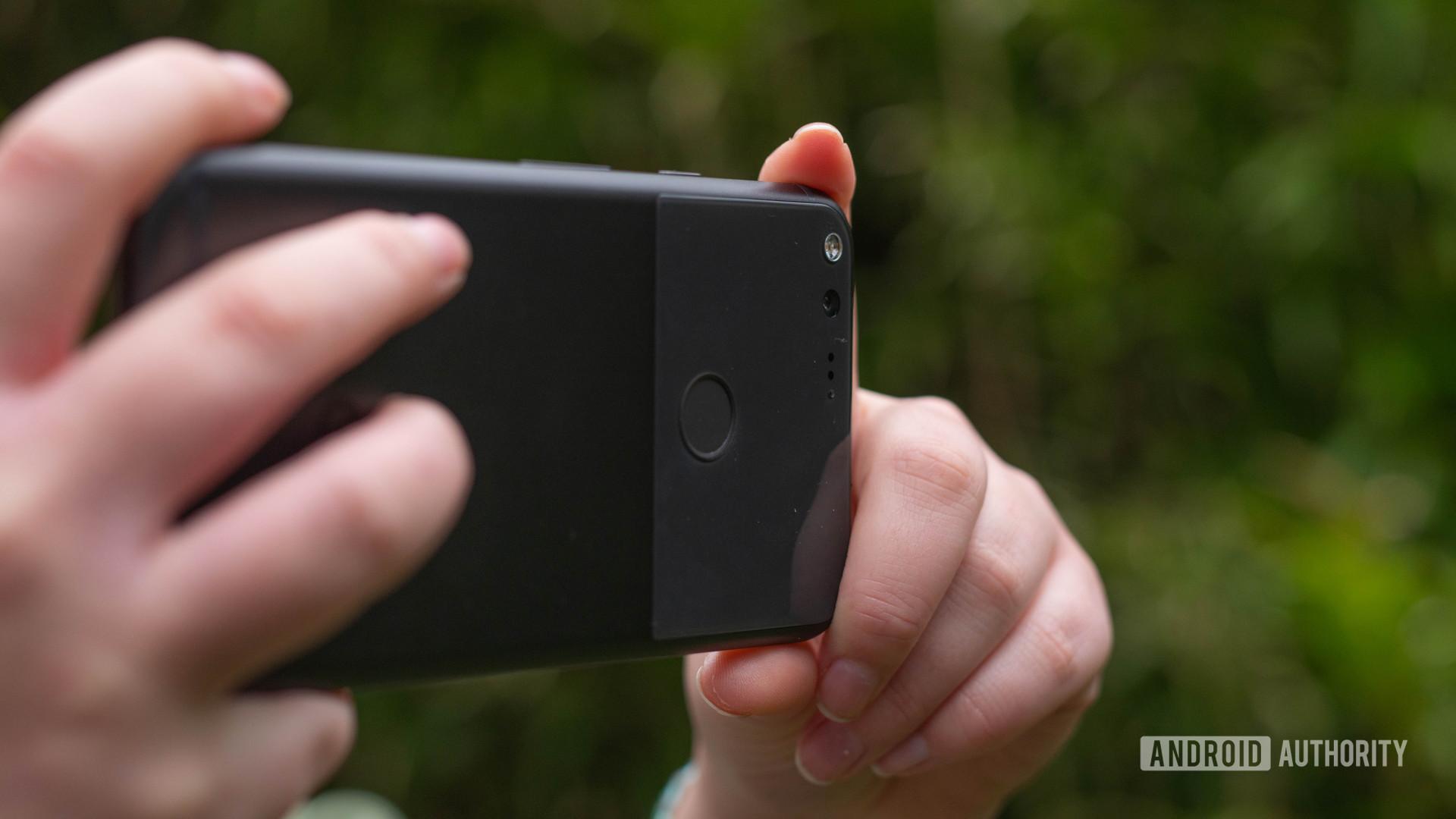 Pixel 1 taking a photo