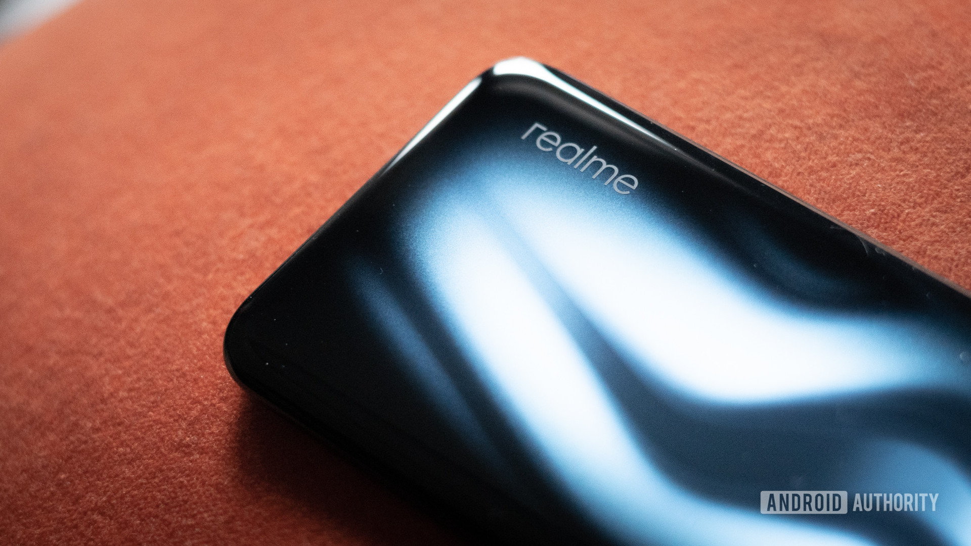 Realme 6 Pro showing gradient and logo
