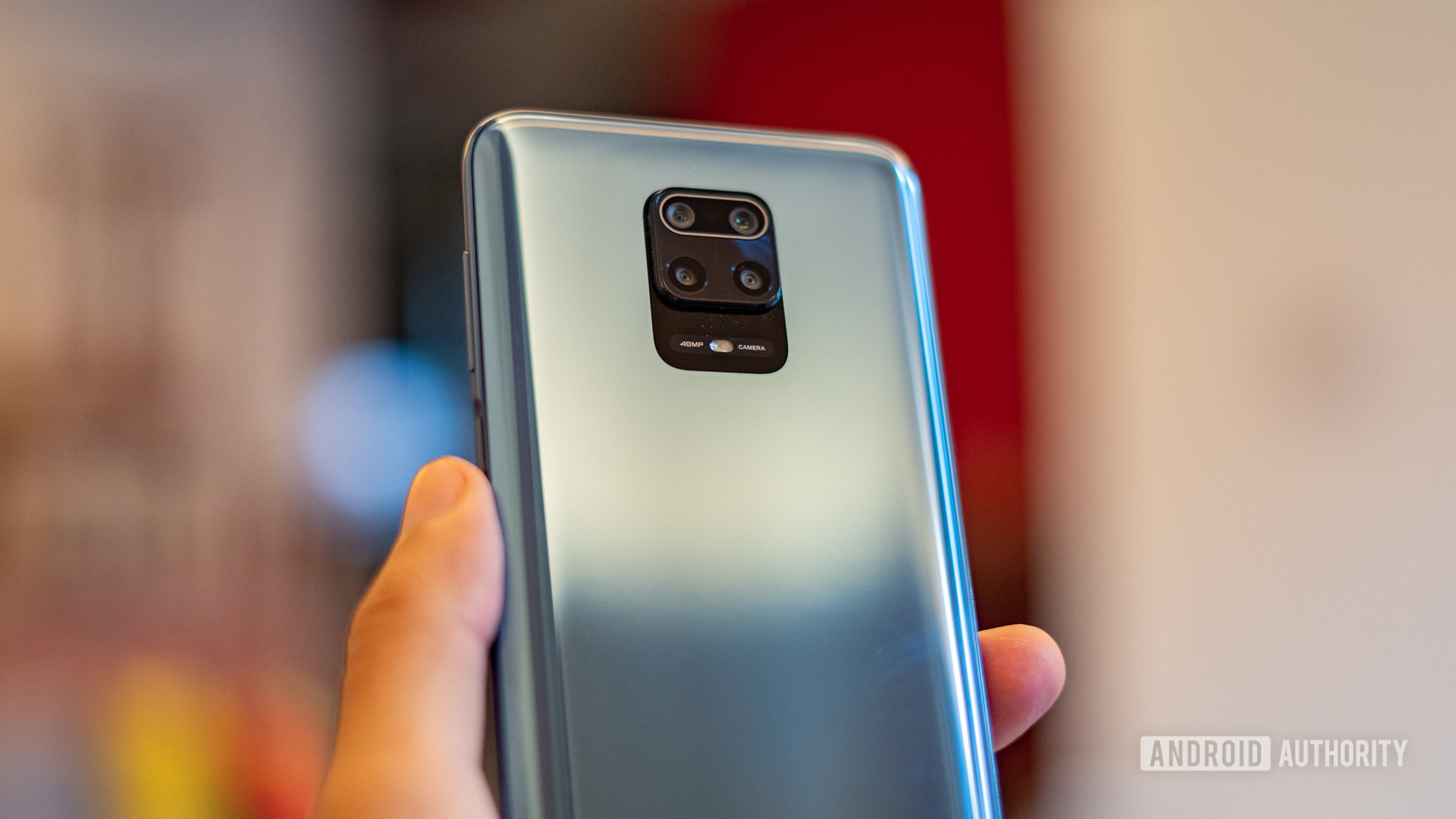 Redmi Note 9 Pro close up of camera