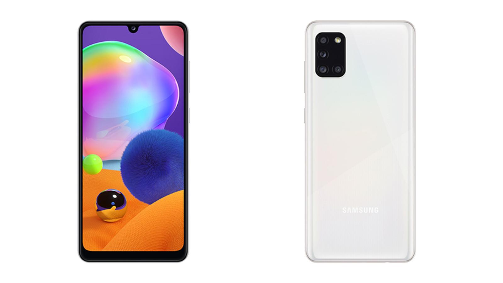 The Samsung Galaxy A31.