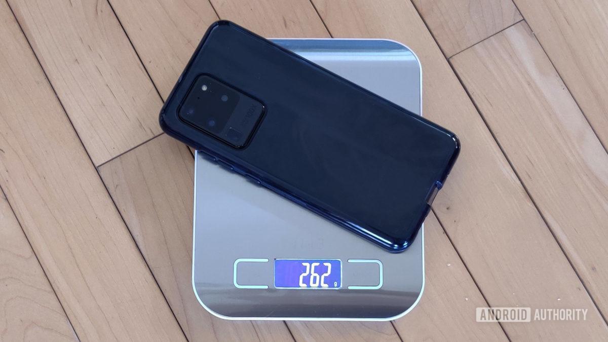 Samsung Galaxy S20 Ultra in Case Weight