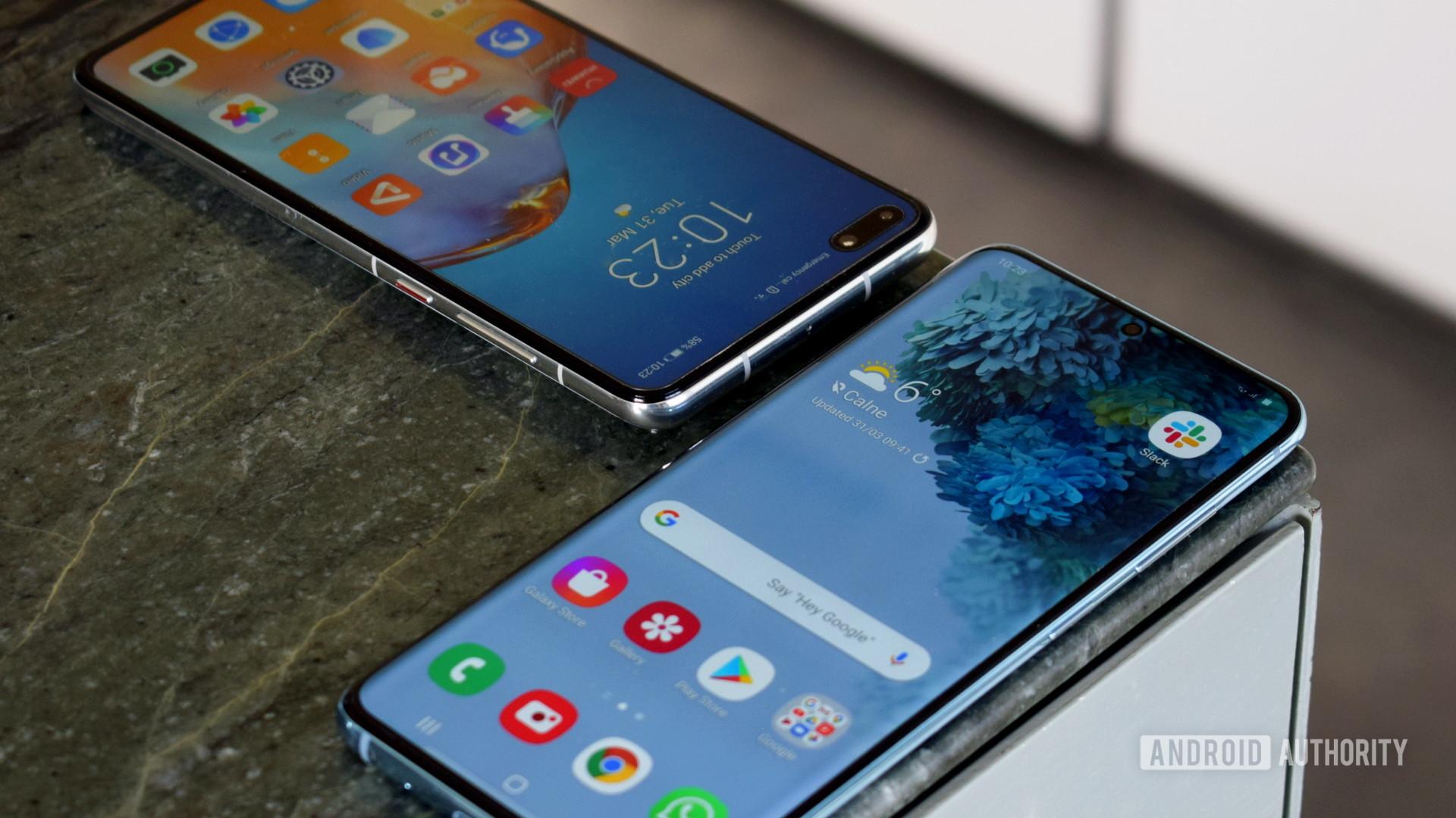 Samsung Galaxy S20 vs Huawei P40