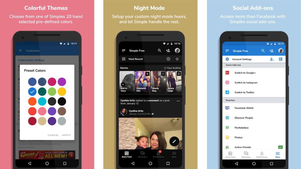 Simple Social screenshot 2020
