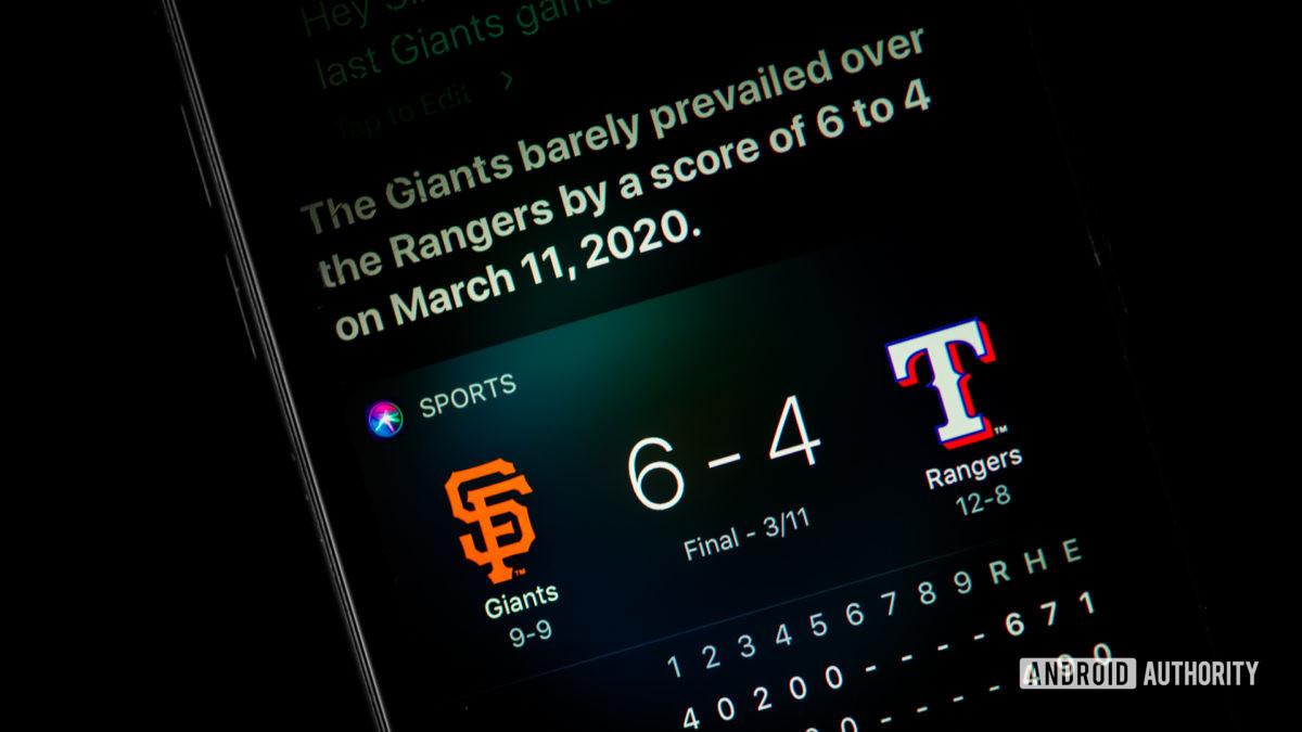 Siri command sports scores