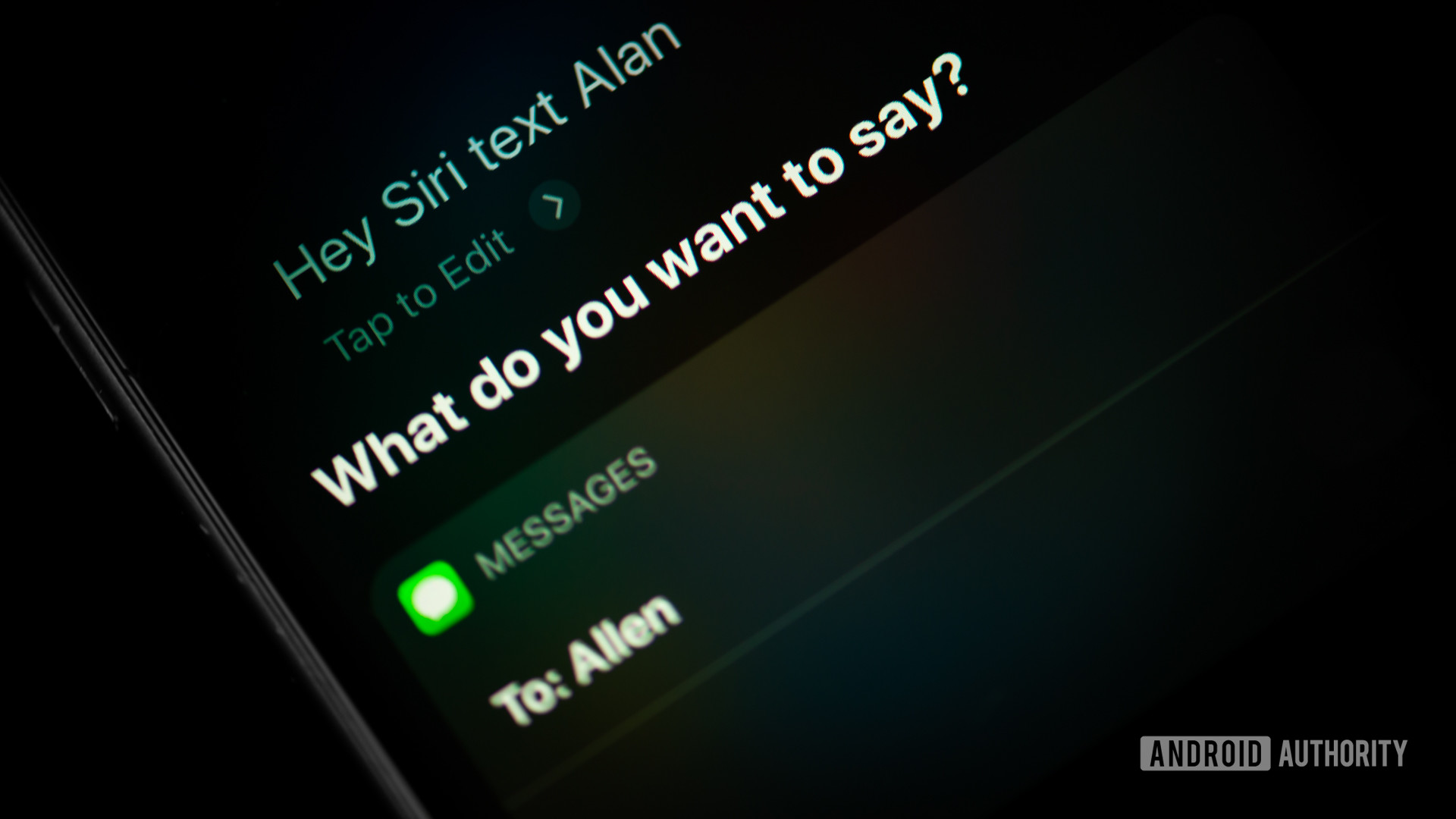 Siri command texting