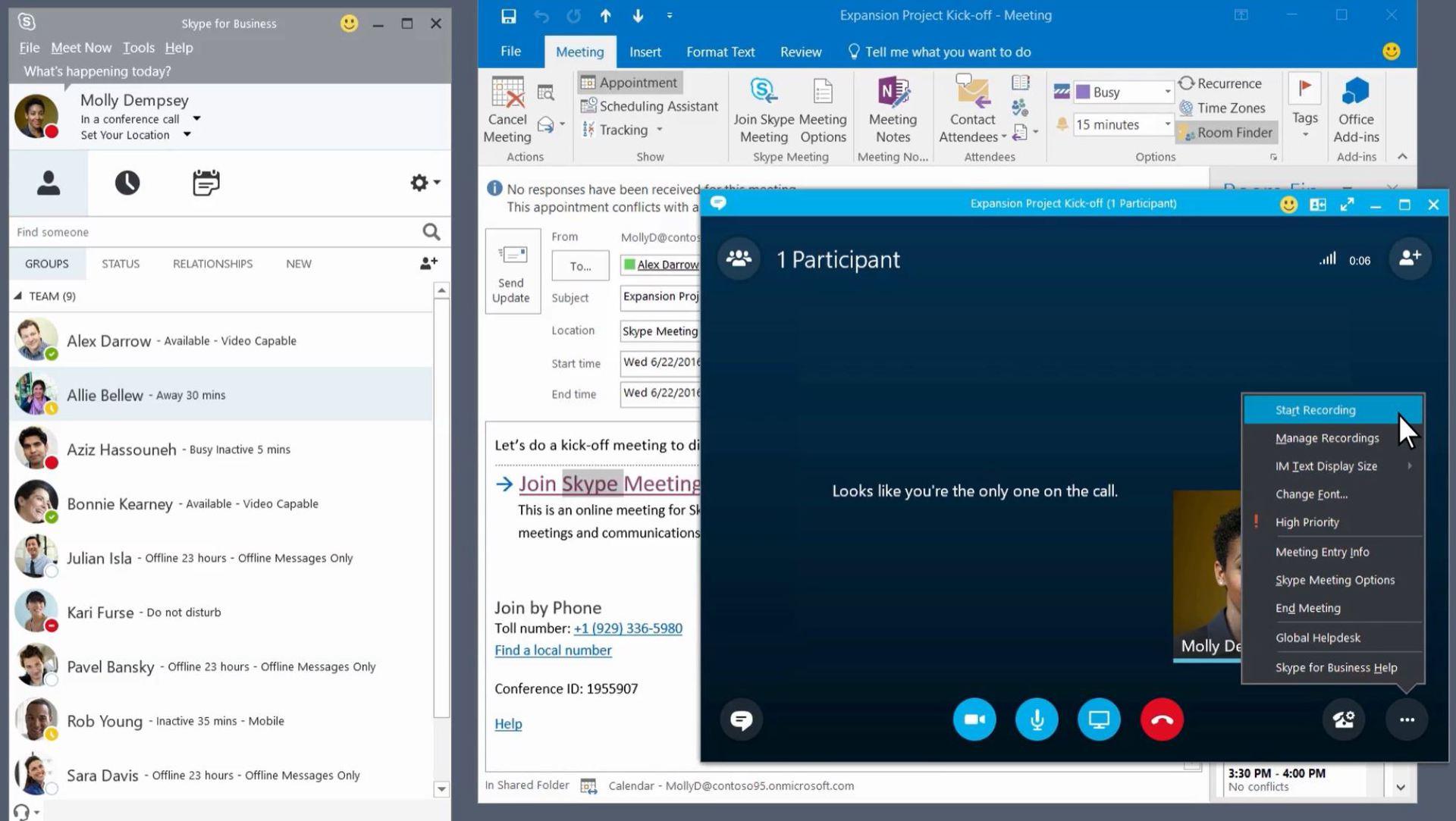 Skype mail meeting