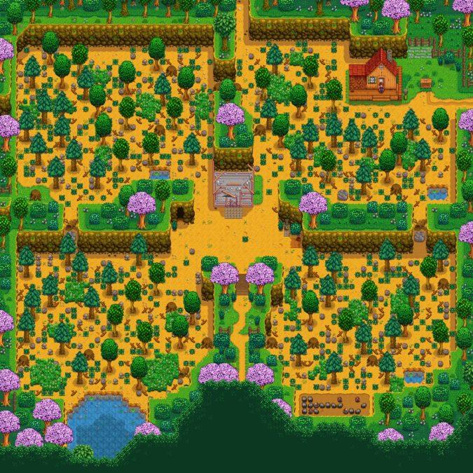 Stardew Valley four corners farm layout