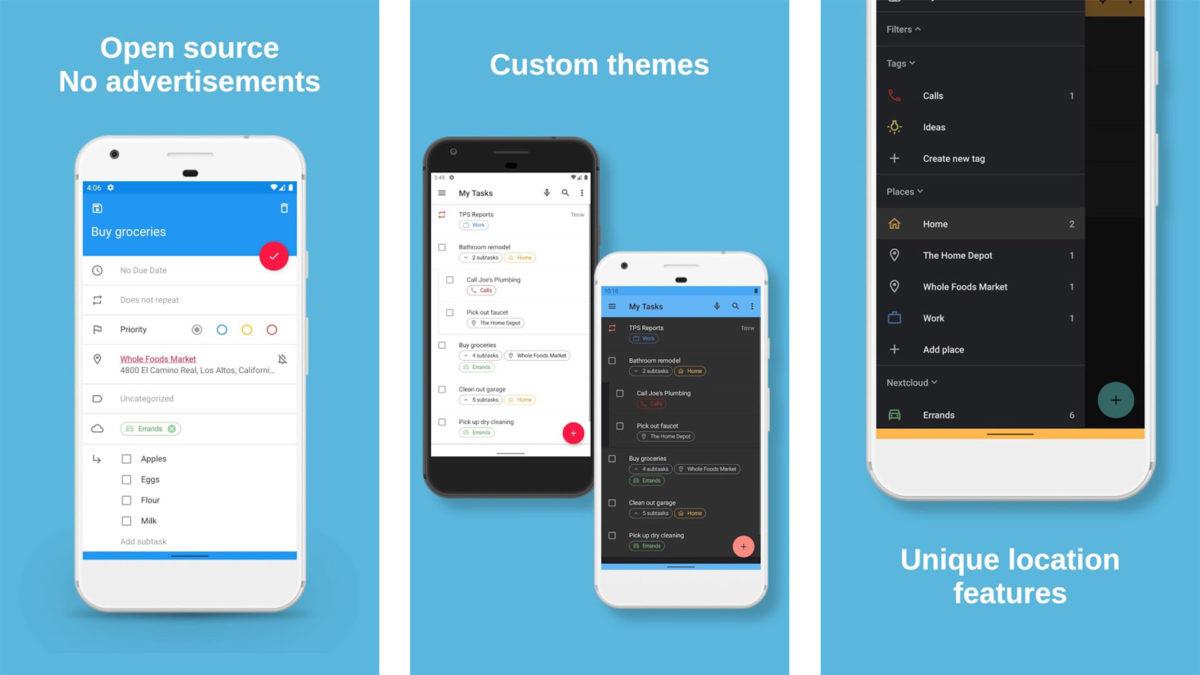 Captura de pantalla de Tasks Org 2020