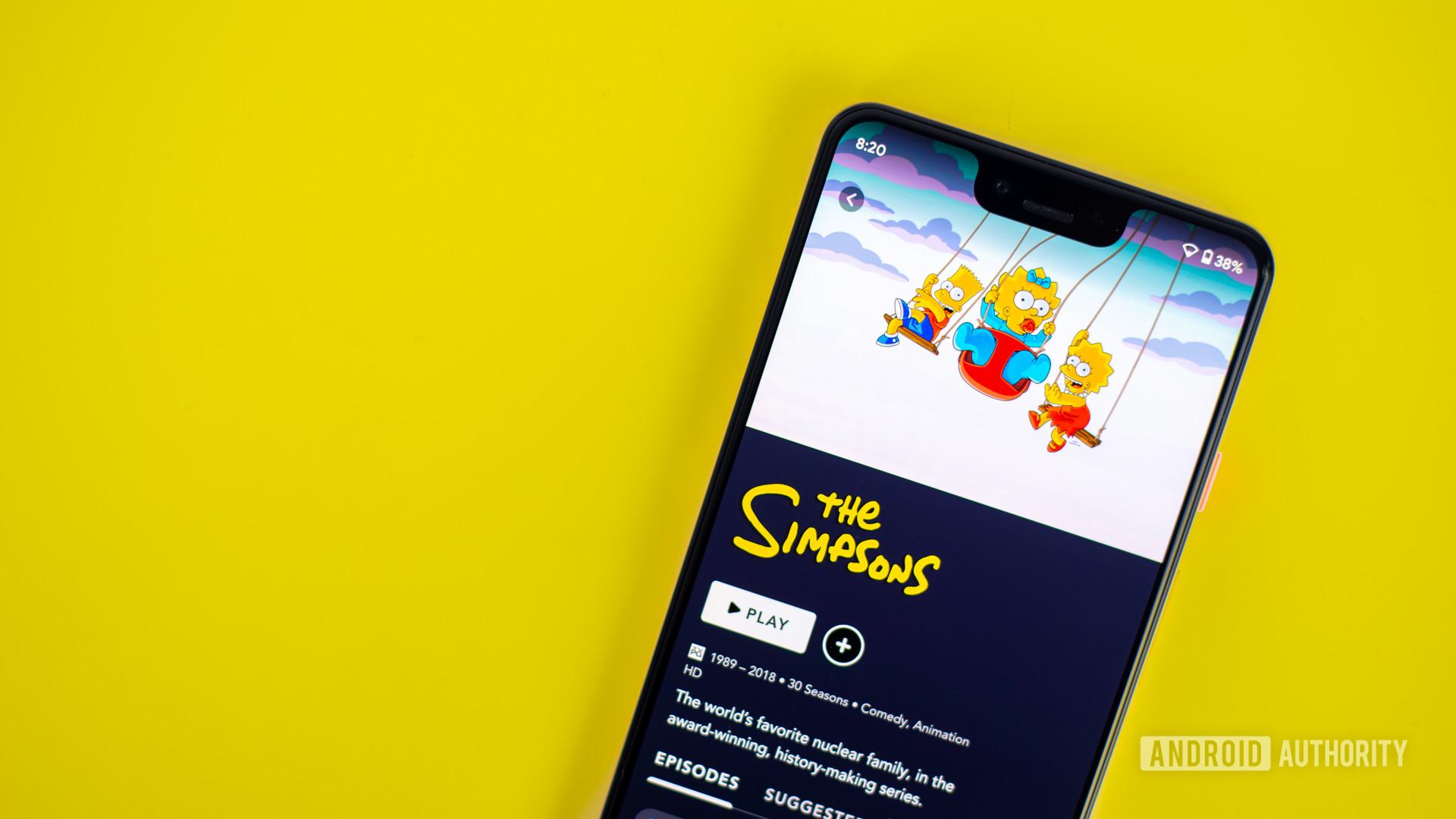 The Simpsons on Disney Plus app 2